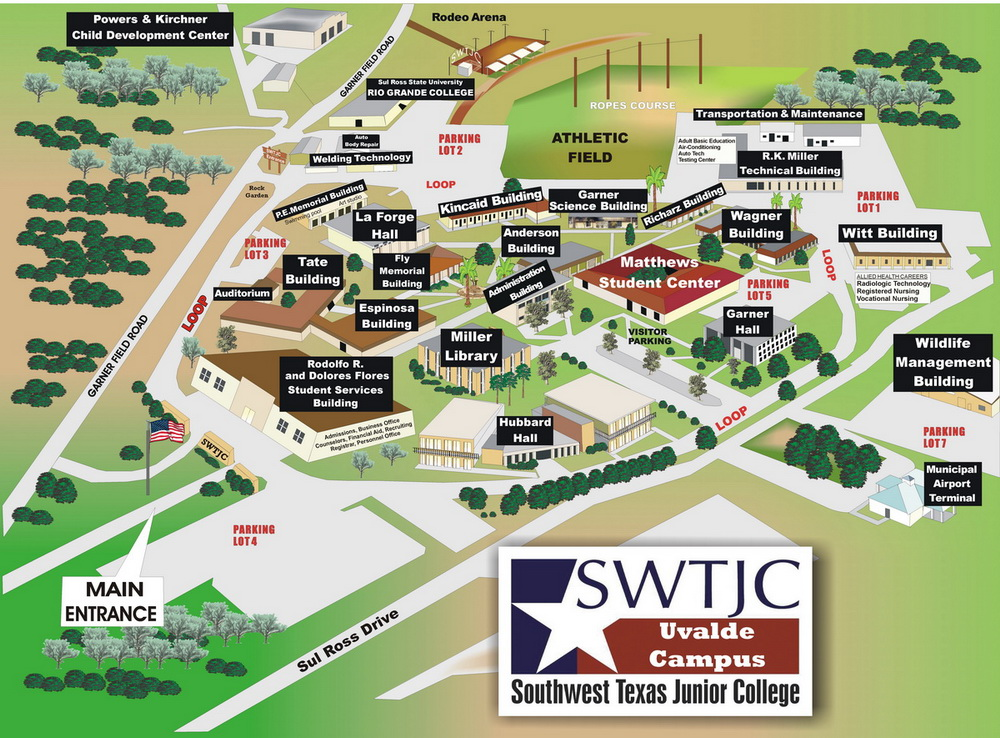 Map Of Texas Junior Colleges.Uvalde